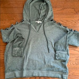 NWOT Threads 4 Thought Open Shoulder Hoodie